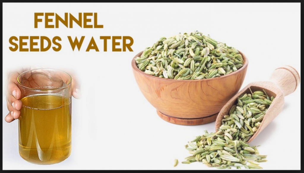 Fennel or saunf water